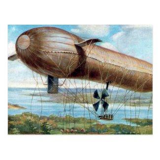 Old Postcard - Motor Driven War Airship