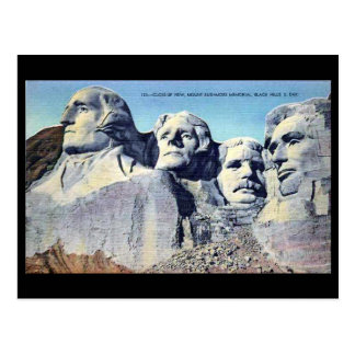 Old Postcard - Mount Rushmore, South Dakota