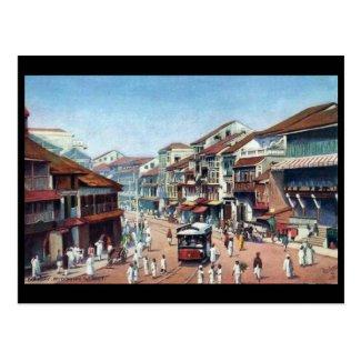 Old Postcard - Mumbai, Pydownie Street
