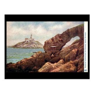 Old Postcard - Mumbles Lighthouse, Swansea