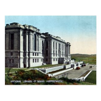 Old Postcard - National Library of Wales, Aberystwyth