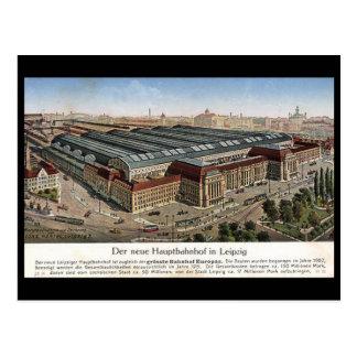 Old Postcard - Neue Hauptbahnhof, Leipzig.