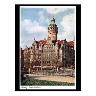 Old Postcard - Neues Rathaus, Leipzig