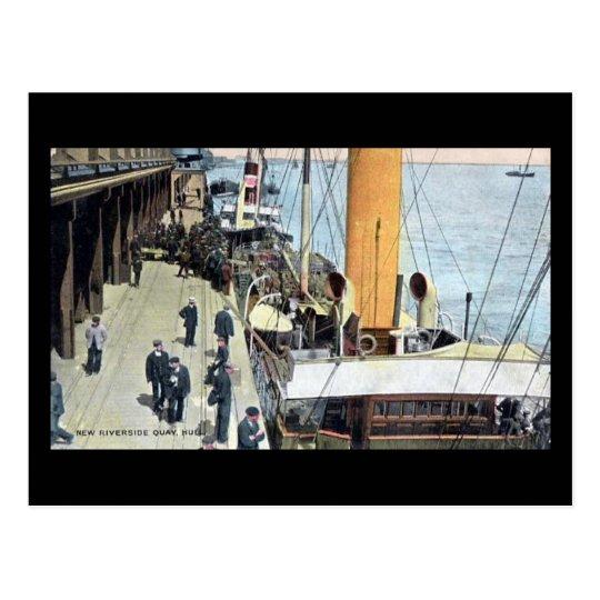 Old Postcard - New Riverside Quay, Hull