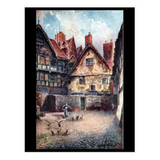 Old Postcard - New Ship Inn Yard, Shrewsbury.