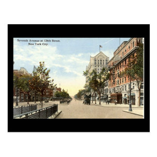 Old Postcard, New York City, 7th Ave at 126th Stre Postcard