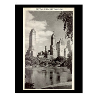 Old Postcard - New York City, Central Park