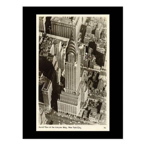 Old Postcard, New York City, Chrysler Building Post Card
