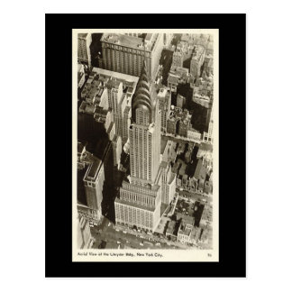 Old Postcard, New York City, Chrysler Building Postcard