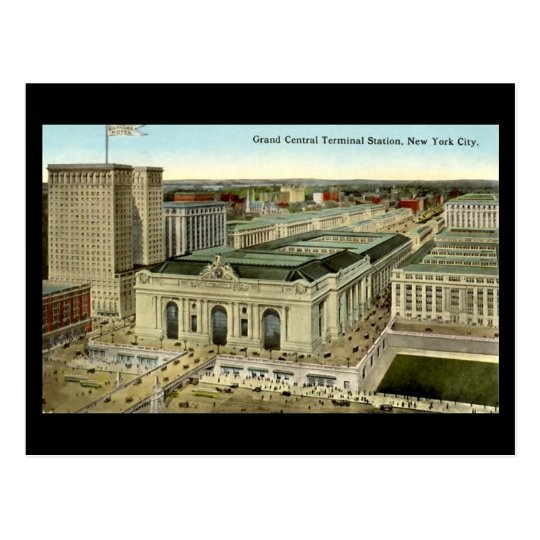 Old Postcard, New York City, Grand Central Station