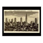 Old Postcard, New York City Skyline Post Cards