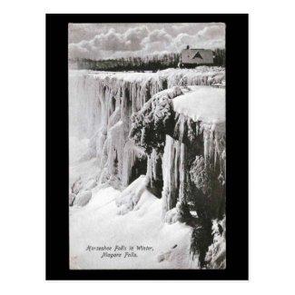 Old Postcard - Niagara Falls in Winter