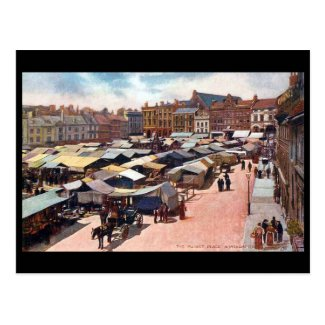 Old Postcard - Northampton Market Place in 1904