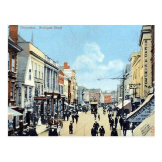 Old Postcard - Northgate St, Gloucester, England
