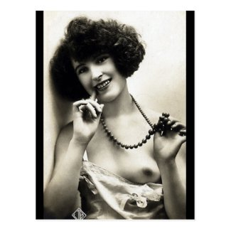 Old Postcard - Nude with a Necklace