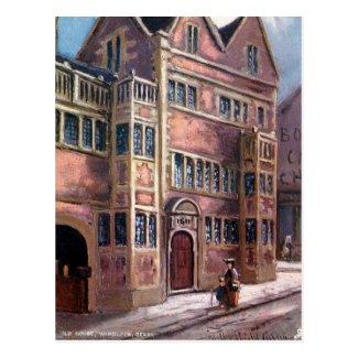 Old Postcard - Old House, Wardwick, Derby
