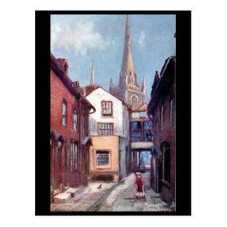 Old Postcard - Old Passage, Shrewsbury, Shropshire
