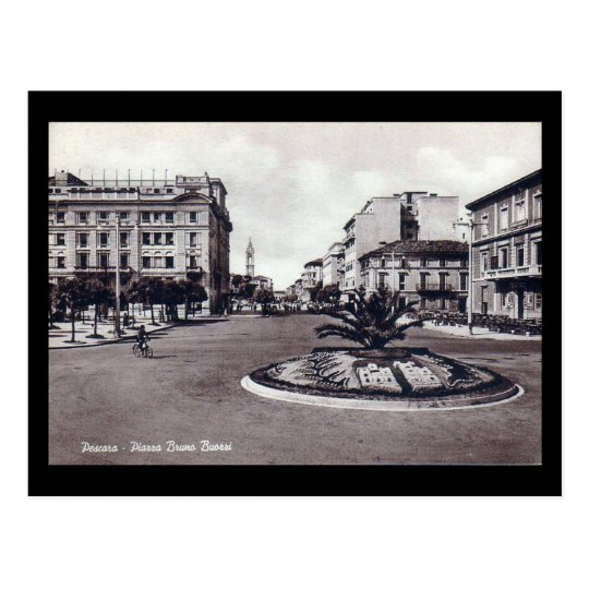 Old Postcard - Pescara, Piazza Bruno Buozzi