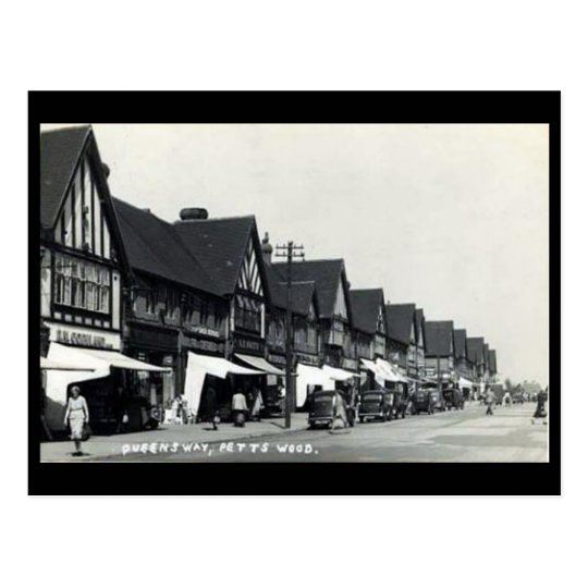 Old Postcard - Petts Wood, Bromley, London