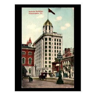 Old Postcard - Philadelphia Bulletin Building