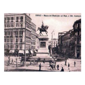 Old Postcard - Piazza del Municipio, Napoli