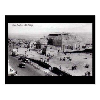 Old Postcard, Pier Pavilion, Worthing, Sussex