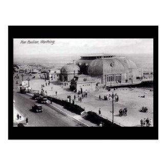 Old Postcard, Pier Pavilion, Worthing, Sussex Postcard