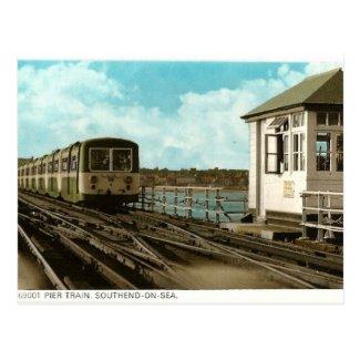 Old Postcard - Pier Train, Southend-on-Sea