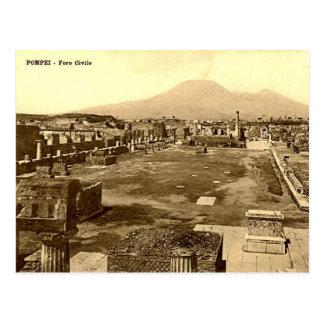 Old Postcard - Pompei, The Forum