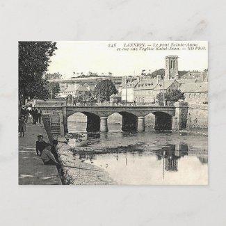 Old Postcard - Pont Sainte-Anne, Lannion, France