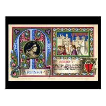 Old Postcard - Pope Martin V