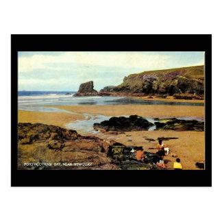 Old Postcard - Porthcothan Bay, Newquay, Cornwall