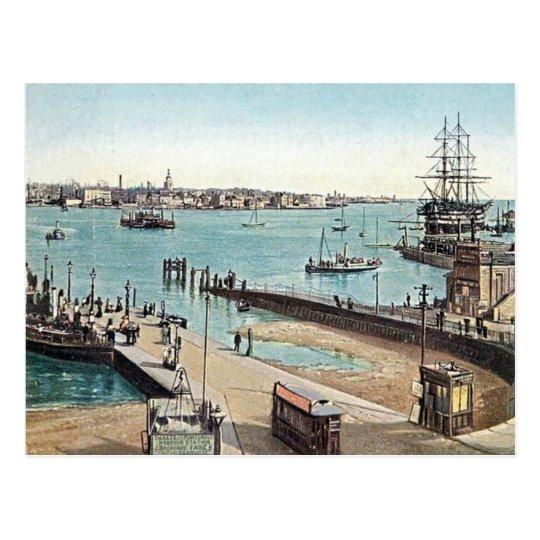 Old Postcard - Portsmouth Harbour