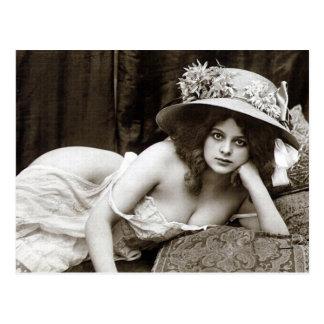 Old Postcard - Pretty Girl