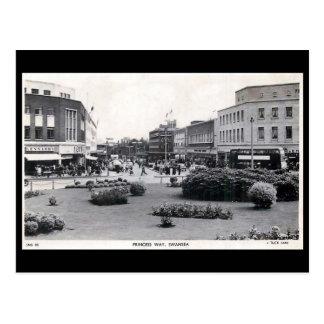 Old Postcard - Princess Way, Swansea