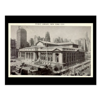 Old Postcard, Public Library, New York City Postcard