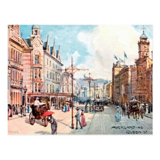 Old Postcard - Queen Street, Auckland, New Zealand