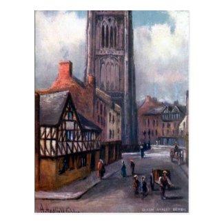 Old Postcard - Queen Street, Derby