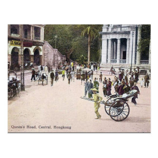 Old Postcard - Queen's Road, Hong Kong