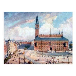 Old Postcard - Rådhuspladsen, Copenhagen