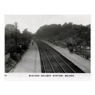 Old Postcard - Railway Station, Belper, Derbyshire