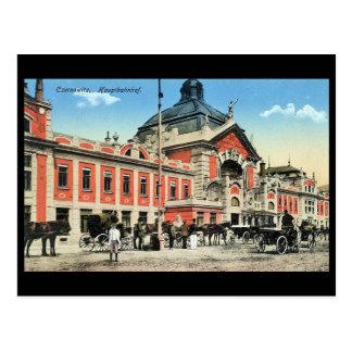 Old Postcard, Railway Station, Chernivtsi, Ukraine Postcard