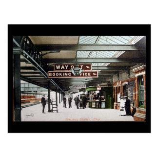 Old Postcard - Railway Station, Rhyl