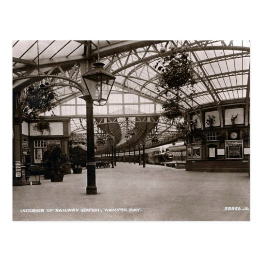 Old Postcard - Railway Station, Wemyss Bay