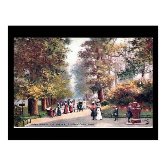Old Postcard - Ravenscourt Park, Hammersmith, Lond