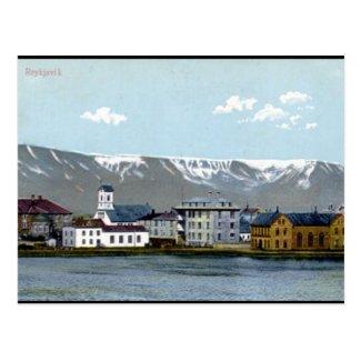 Old Postcard - Reykjavik, Iceland