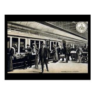 Old Postcard - Riverside Station, Liverpool