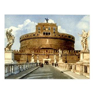 Old Postcard, Rome, Castel Sant'Angelo