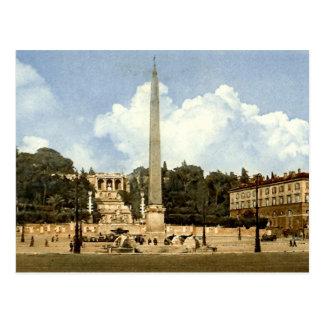 Old Postcard, Rome, Piazza del Popolo