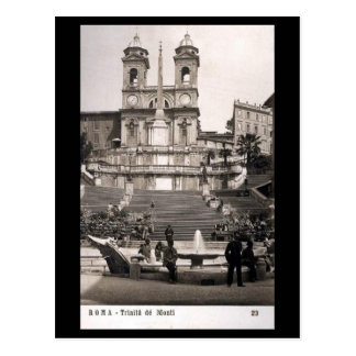 Old Postcard - Rome, Spanish Steps